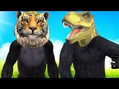 Gorilla With Animals Head Finger Family | Kids Nursery Rhymes | Finger Family Song | Children Rhymes - YouTube