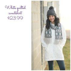 Walkin in a Winter Wonderland #sweatshirt #winterfashion #keepwarm #winter #holiday #shopping #giftideas #beanie #scarf #booties #boots #newarrivals #utahboutique #musthave #fashionista #shopbellame