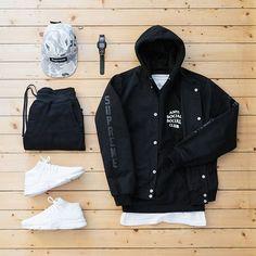 WEBSTA @ jaybeezishangintough - today's #outfitgrid#Supreme x #AntiHeroSkateboards jacket / #AntiSocialSocialClub hoodie / #TheBasement tee / #RaisedByWolves sweatpants / #Nike presto flyknit ultra / #ALIFE x #Casio watch / Supreme camp cap@outfitgrid @dennistodisco #rbw #supremenewyork #assc #BasementApproved #flyknit #presto #antihero #ootd #outfitoftheday #streetwear #streetstyle #menswear #mensfashion #casuals #casualstyle #fashion #snobshots #streetbeast #womft #wdywt #waywt