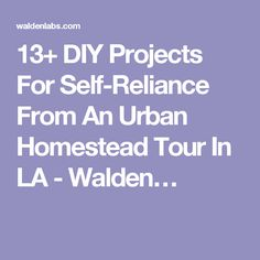 13+ DIY Projects For Self-Reliance From An Urban Homestead Tour In LA - Walden…