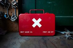 Secured in a small metal box, our all-purpose first aid kit is designed for…