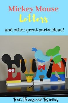 Mickey Mouse Party DIY Mickey Mouse Clubhouse birthday party complete with instructions for the cake, decorations, food, and favors. Mickey Mouse Birthday Decorations, Mickey Mouse Parties, Mickey Mouse And Friends, Diy Mickey Decorations, Mickey Mouse Food, Disney Parties, Minnie Mouse, Mickey Mouse Letters, Mickey Mouse 1st Birthday