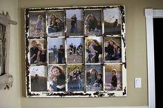 Ventana vieja convertida en marco de fotos #upcycle #window #ventana #reutilizada