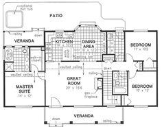 The mud room is perfectly situated in this one. Eliminate bathroom door to veranda in master.