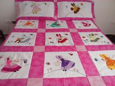 patwor Hobbies And Crafts, Diy And Crafts, Applique Quilt Patterns, Sunbonnet Sue, Machine Quilting, Baby Quilts, Bed Sheets, Needlework, Cross Stitch