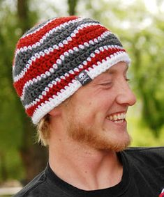 Free Crochet Pattern: Brain Waves Beanie (adult and child sizes) by Liz McQueen at playinhooky