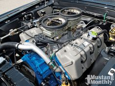 Boss 429 Engine - a small number of Mustangs were built with this Ford hemi engine in 1969 and 1970.