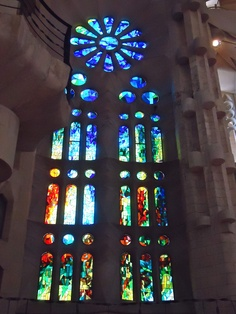 stained glass in La Sagrada Familia, Barcelona Love Art, Stained Glass, Barcelona, Destinations, Adventure, Future, Places, Travel, Voyage
