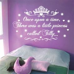 Surprise your little princess. Super cute wall vinyl decal sticker for girls bedrooms. From $24.95, via StickTakStickers.com