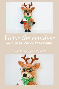 AMIGURUMI PATTERN: Victor the reindeer. Gift for birthday. Gift to a colleague PR manager Amigurumi Toys, Amigurumi Patterns, Crochet Patterns, Creative Gifts, Unique Gifts, Best Gifts, Creative Ideas, Handmade Crafts, Handmade Ideas