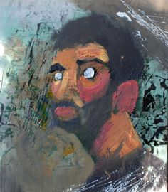 Hangover  Oil and mixed media on canvas by David Nemeth