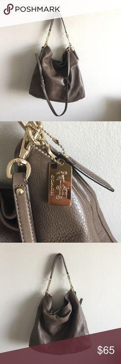 Coach - leather bag Coach leather bag; crossbody or shoulder convertible Coach Bags