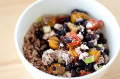 Black Beans with Roasted Tomatoes & Feta