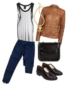 """""""Sandro Jeans"""" by thestyleartisan ❤ liked on Polyvore"""