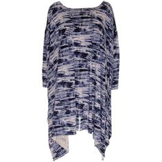 Tie Dye Poncho Style Tunic, Graphite ($35) ❤ liked on Polyvore featuring tops, tunics, tie dye tunic, tie dye poncho, tie dye tops, poncho style tops and tie dyed tops