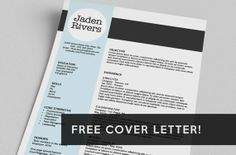 Resume & FREE Cover Letter  Word Template  The by taupeisdope, $15.00