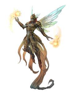 Female Pixie Sorcerer - Pathfinder PFRPG DND D&D 3.5 5th ed d20 fantasy