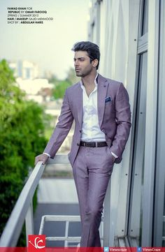Love this look for my hubby. Fawad Khan for Collection of Republic by Omar Farooq Indian Men Fashion, Mens Fashion Suits, Mens Suits, Men's Fashion, Beautiful Celebrities, Gorgeous Men, Fawad Khan Beard, Costume, Bollywood Stars