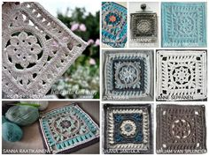 The Kalevala CAL is a blanket project where each participant can crochet their own Kalevala inspired blanket. square patterns, joining and the border, several languages. Baby Blanket Crochet, Crochet Baby, Crochet Crafts, Crochet Projects, Pattern Design, Free Pattern, Granny Squares, Afghans, Crocheting