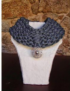 Cuello bufanda en color azul
