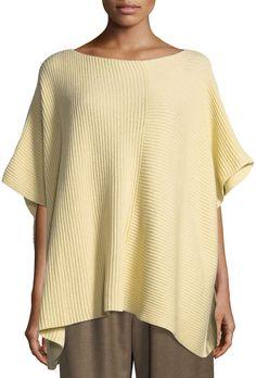 3a2530e11fb Eskandar Hand-Loomed Ribbed Knit Square Cashmere Cotton Panelled Caftan