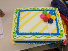 Balloon design sheet cake