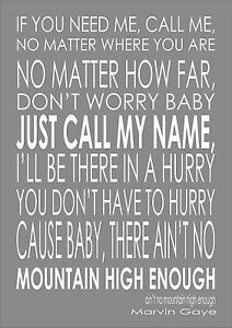 """MUSIC ASK #17: A song that you would sing a duet with on karaoke: """"Ain't No Mountain High Enough"""" by Marvin Gaye ×"""