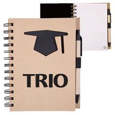Custom Order for TRIO Recycled Die Cut Notebook. Proforma can do any shape or design on these recycled die cut notebook. #TRIO