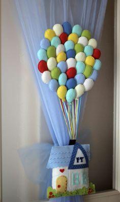 'mutluluktan uçan ev' keçe kapı / duvar süsü. 264906 | zet.com
