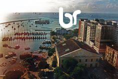 Do alto do Elevador Lacerda em Salvador, Bahia, Brasil