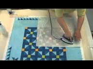 Great quilting tut. on squaring, blocking and basting quilts for home machine quilting..