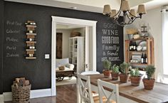 Dining Room : Chalkboard With Writing Rack Wine Mount Wall Wooden Table  Dining Chair Rack Cutlery