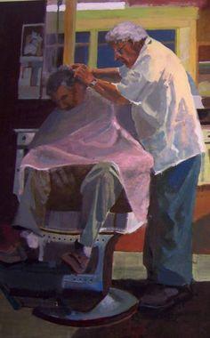 Julia Sanchez Marin, (Spanish), 'The Barbershop', detail