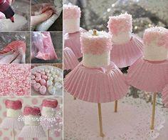 ARTE COM QUIANE - Paps, Moldes, E.V.A, Feltro e Costuras: Bailarina Marshmallow Pops_faça você mesmo