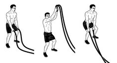 Your workout shouldn't be as rigid as a barbell. Make some waves to build more muscle Post Workout Food, Workout Humor, Battle Rope Workout, Home Made Gym, Rope Training, Surf Training, Good Pre Workout, Rope Exercises, Fit Board Workouts
