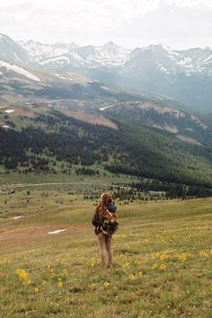This pic just gave me that feeling in the pit of my stomach. I HAVE to do this someday. Hiking through the beautiful mountains with nothing but a backpack :)