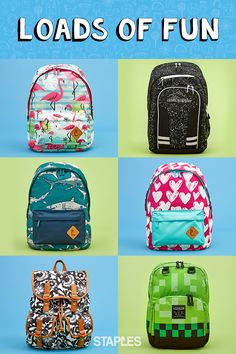 No matter what your kids are into, you'll find a fun backpack that gets the School Supplies Highschool, Diy School Supplies, Emoji Backpack, School Trends, School Fundraisers, Back To School, School Stuff, School Life, Blue Nails