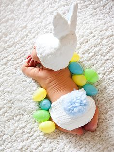 Knitted baby bunny rabbit hat and diaper cover by AvaGirlDesigns, $55.00