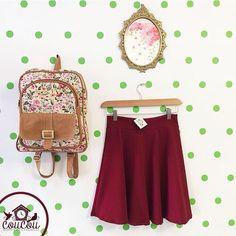 Con estas altas temperaturas.. Que vivan las faldas!  Para hoy te recomendamos estas lindas prendas COUCOU: Falda $60.000 Bolso $60.000 Estamos en #Cúcuta y realizamos envíos a toda #colombia  Para  info: llámanos al 3004172602 (Whatsapp)  #coucouisrosy #instamoda #instafashion #ootd #vintage #backpack #skirt #barranquilla #bucaramanga #cucuta #manizales #medellin #bogota