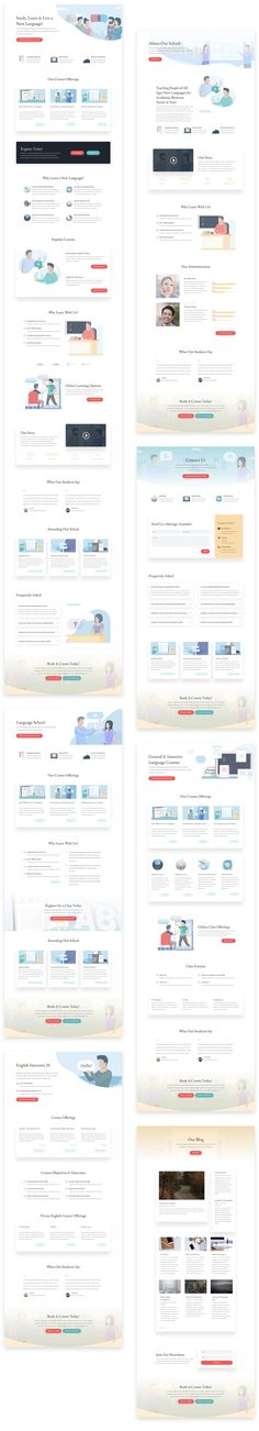 The Divi Theme layout directory lists every layout for the Divi Theme by Elegant Themes. Use these free and premium layouts in your next Divi Theme website. Online Language Courses, Course Search, Course Offering, Language School, Website Themes, Page Layout, Packing, Blog, Free