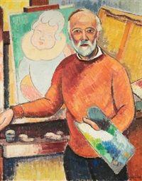 Louis Neillot, Portrait du peintre Louis Péronne, 1955