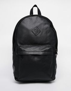 Image 1 of New Look Faux Leather Backpack