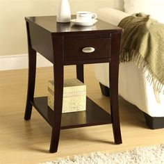 This functional side table has a great finish to match your decor. This living space accent piece is ideal for use as a table to store your belongings. Living Room End Tables, Sofa End Tables, End Tables With Storage, A Table, Side Tables, Furniture Sale, Living Room Furniture, Furniture Shopping, Online Furniture