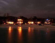 Golden Eye: Night cottages along the cool Caribbean. Beaching it like Bond.