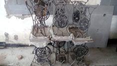 Stolky ze starožitného šicího stroje - 1