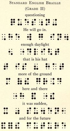Old pages of Standard English Braille. very cryptic and formally beautiful.