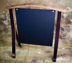 Wine barrel easel