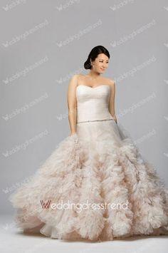 Ideal Princess Sweetheart Ruffles Plus Size Wedding Dress