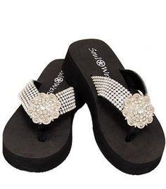 Major Bling Concho Flip Flops, $36.00