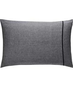 Habitat Chambray Black Rectangular Pillowcase at Argos.